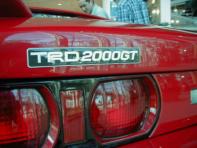TRD2000GT #?? (Red) @ Mega Web Toyota City Showcase P9230009