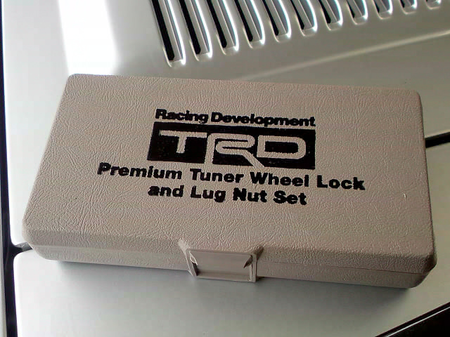 TRD premium tuner wheel lock and lug nut set DSC00848